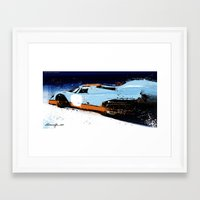 porsche Framed Art Prints featuring PORSCHE 917 -  by Michele Leonello