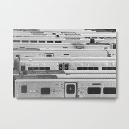 At the End of the Tracks Metal Print
