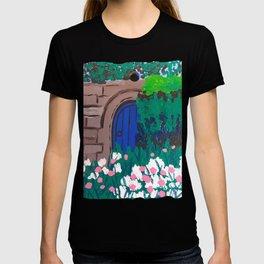 Blue Door In The Garden T-shirt