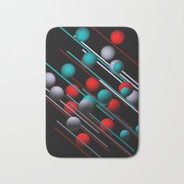 3 colors on black Bath Mat