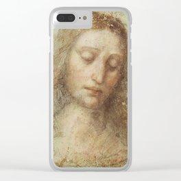 "Leonardo da Vinci ""Head of Christ"" Clear iPhone Case"