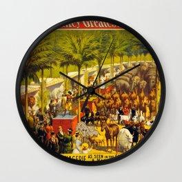 Jungle Menagerie Wall Clock