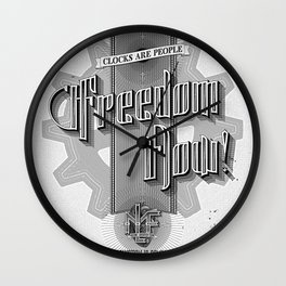 Freedom Now! - Machine Liberation Front Wall Clock