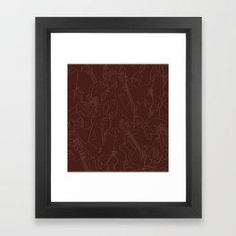 Jazz Musicians (Maroon) Framed Art Print