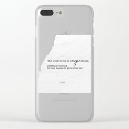 quote by w.b. yeats Clear iPhone Case