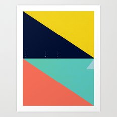 Secret Surf Map (High Tide) — Matthew Korbel-Bowers Art Print