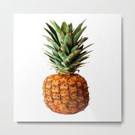 Pineapple Tropical Fruit Vector Art Metal Print