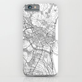 Valencia Map White iPhone Case