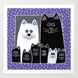 Kitty Family Portrait Art Print