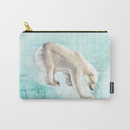 Polar bear on thin ice Carry-All Pouch