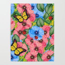 Floral scene Poster
