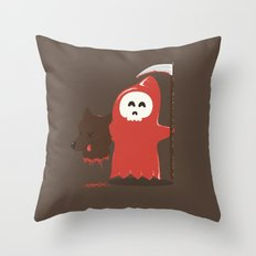 Little Death Riding Hood Throw Pillow