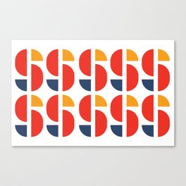 Bauhaus Repetition Joschmi Xants Canvas Print
