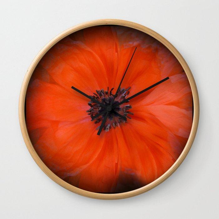 Poppy Square Wall Clock
