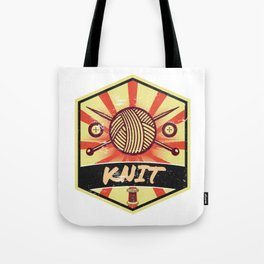 Knitting Propaganda | Knit Wool Hobby Tote Bag
