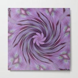Abstracted Twirl Pink Hydrangea Flowers Metal Print