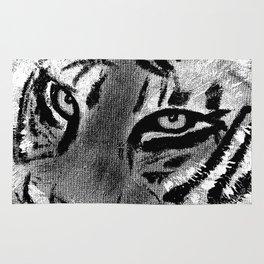 Tiger Eyes - White Rug