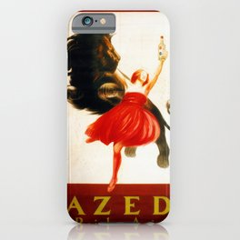 Vintage poster french king Anis Azed iPhone Case