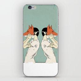 Foxes Print take 2 iPhone Skin