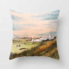 Royal Birkdale Golf Course Throw Pillow