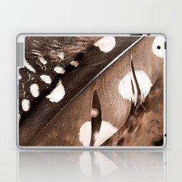 Beautiful Feathers On A Dark Brown Background #decor #buyart #society6 Laptop & iPad Skin