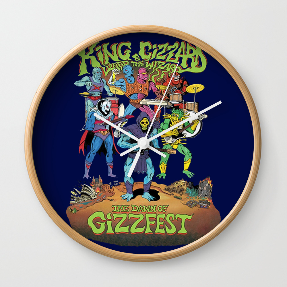 The Dawn Of Gizzfest Decor Clock by Agoesdesign CLK8298626