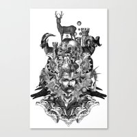 wizard Canvas Prints featuring Wizard by DIVIDUS