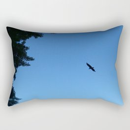 Eagle Silhouette // Nature Photography Rectangular Pillow