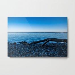 calm blue sea Metal Print