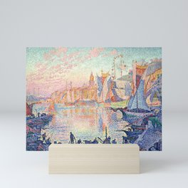 "Paul Signac ""The Port of Saint-Tropez"" Mini Art Print"