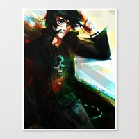 nico di angelo Canvas Prints featuring Nico di Angelo by viria