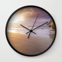 sunrise Wall Clocks featuring Sunrise by Terri Ellis