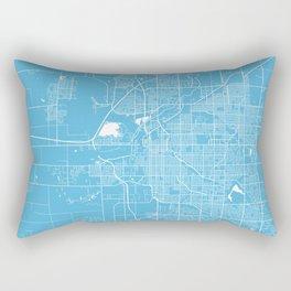 Lincoln map blue Rectangular Pillow