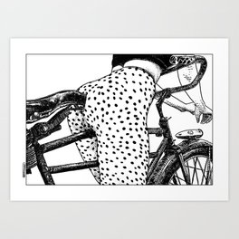 asc 409 - Le velociraptor (The velociraptor) Art Print