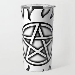 Anti Possession Sigil Black Glow Transp Travel Mug