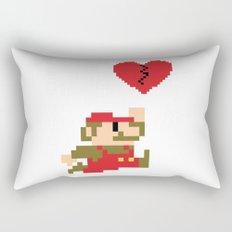 Heartbreaker Mario Rectangular Pillow