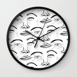 Face Off (2) Wall Clock