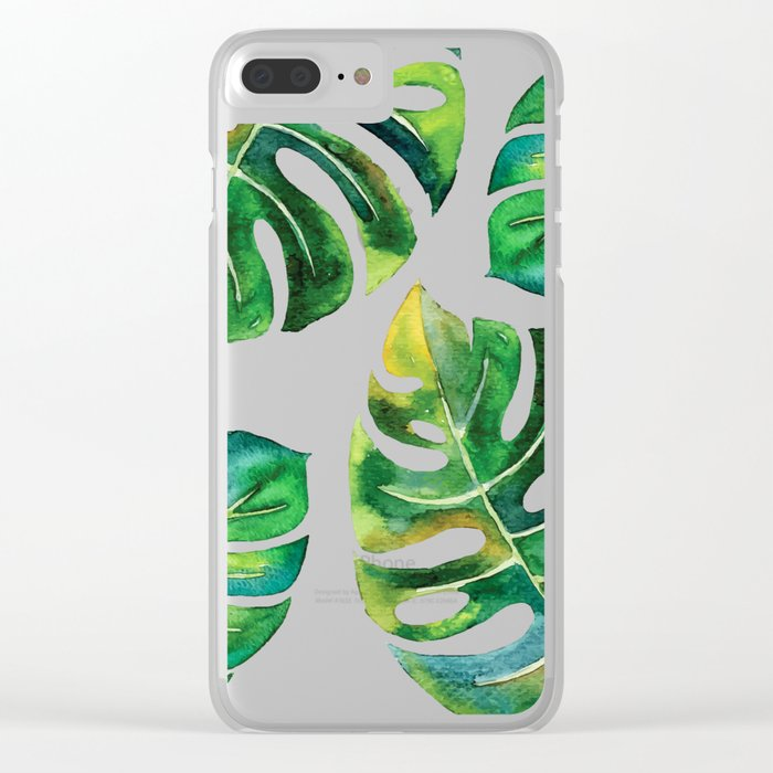 Wildness In Monstera Clear iPhone Case
