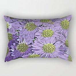 Vintage Floral Explosion Rectangular Pillow