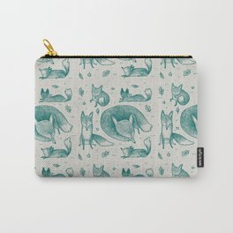 Fox Pattern Carry-All Pouch