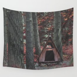 Forest Hut - Nature Photography Wall Tapestry
