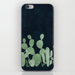 Green cactus garden iPhone Skin