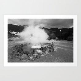 Hot spring Art Print