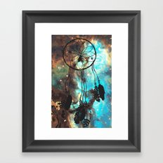 Dreamcatcher (blue) Framed Art Print