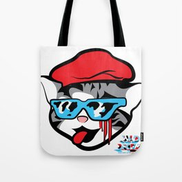 Block Party Cat: Major Edition Tote Bag