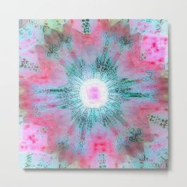 Pink Xray Sunmix Mandala Metal Print