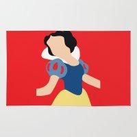snow white Area & Throw Rugs featuring Snow White by Adrian Mentus