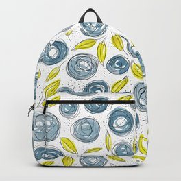 Floral Pattern #13 | Original Navy and Lime Backpack