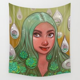Succulet Surroundings Wall Tapestry