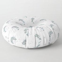 Hand Drawn Raccoons Floor Pillow